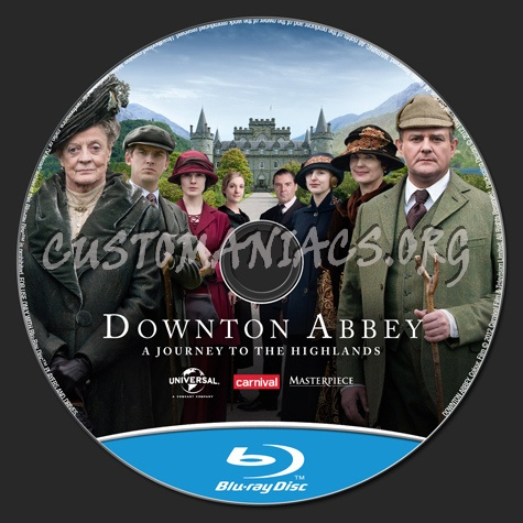 Downton Abbey A Journey to the Highlands blu-ray label