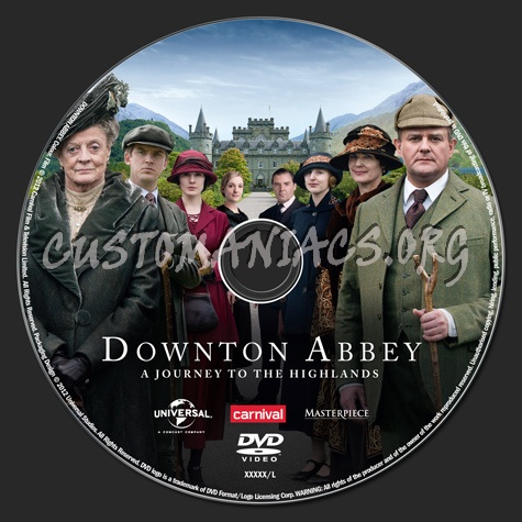 Downton Abbey A Journey to the Highlands dvd label
