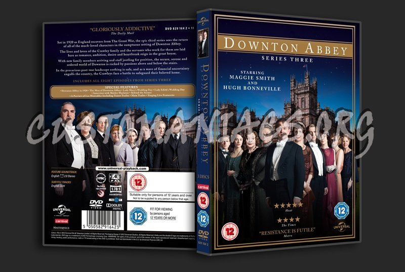 Downton Abbey Season 3 Cover DVD Covers & Label...