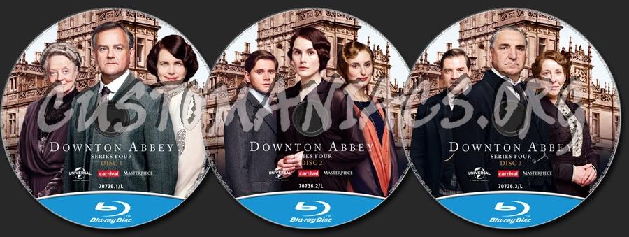 Downton Abbey Season 4 blu-ray label