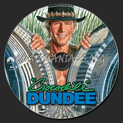 Crocodile Dundee blu-ray label