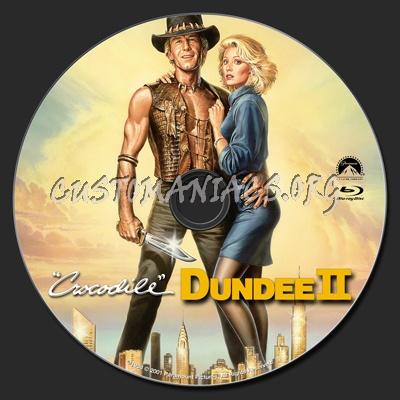 Crocodile Dundee II blu-ray label