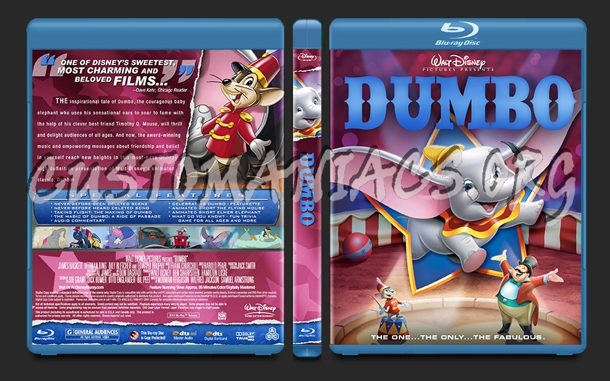 Dumbo blu-ray cover