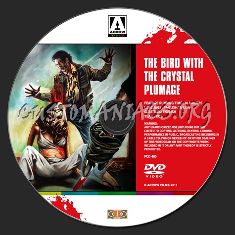 The Bird With The Crystal Plumage dvd label
