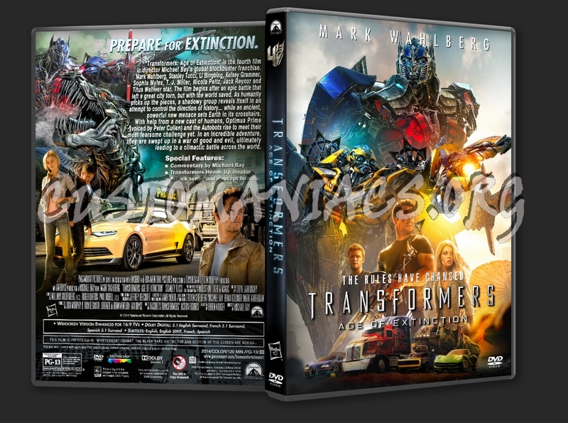 Transformers: Age of Extinction (2014) dvd cover - DVD ...