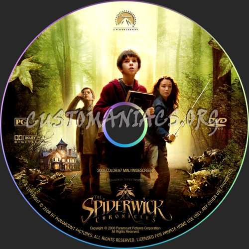 The Spiderwick Chronicles dvd label