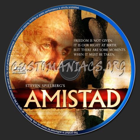 Amistad blu-ray label