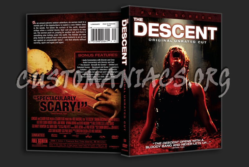 The Descent dvd cover