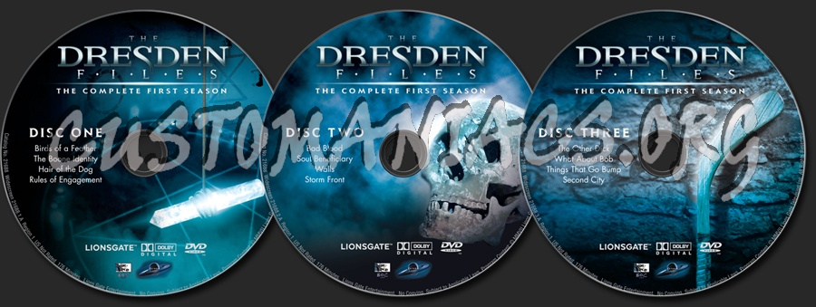 The Dresden Files Season 1 dvd label - DVD Covers & Labels