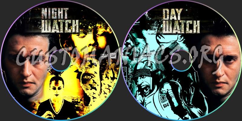Day Watch Night Watch dvd label