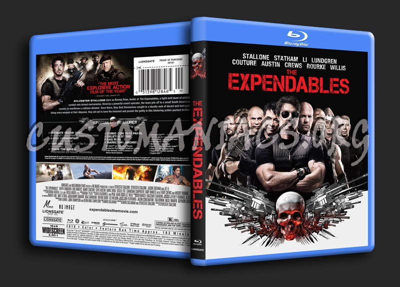 The Expendables blu-ray cover