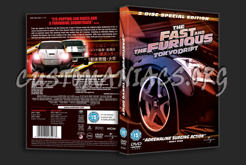 The Fast and the Furious Tokyo Drift dvd cover