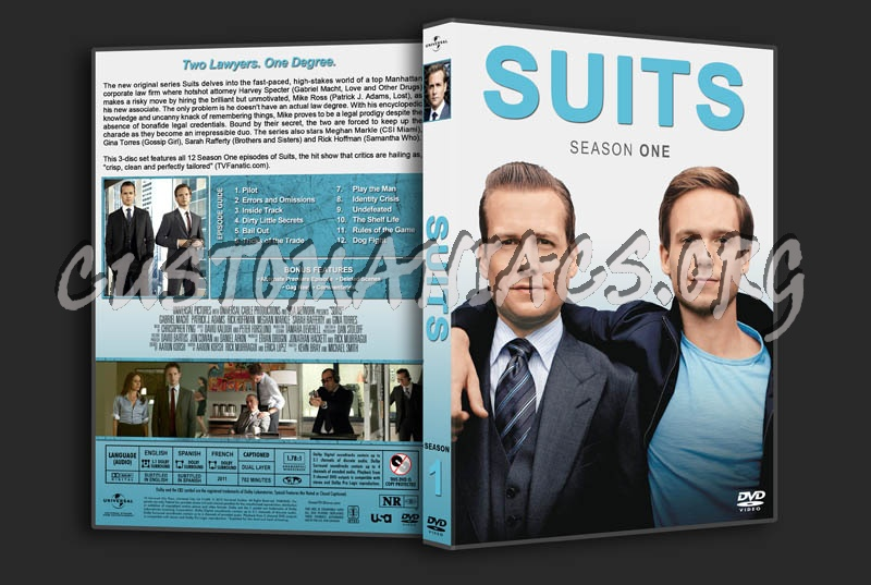 Suits: Seasons 1-5 dvd cover