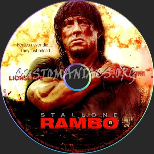 Rambo dvd label