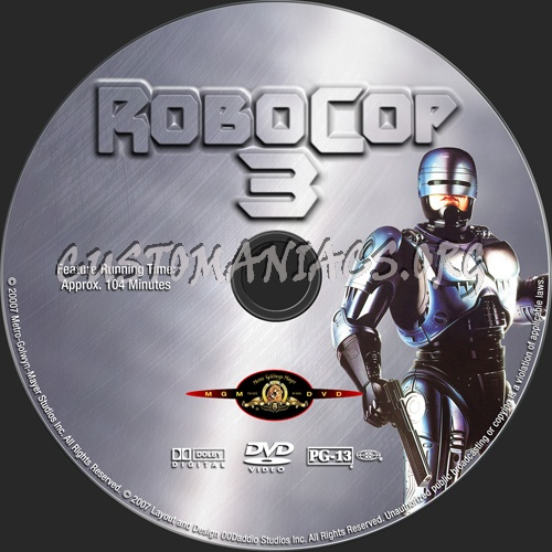 RoboCop Collection dvd label