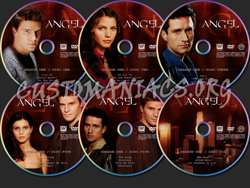 Angel Season One dvd label