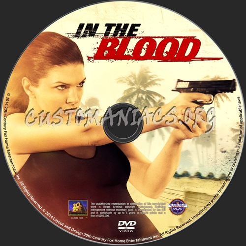 In The Blood dvd label