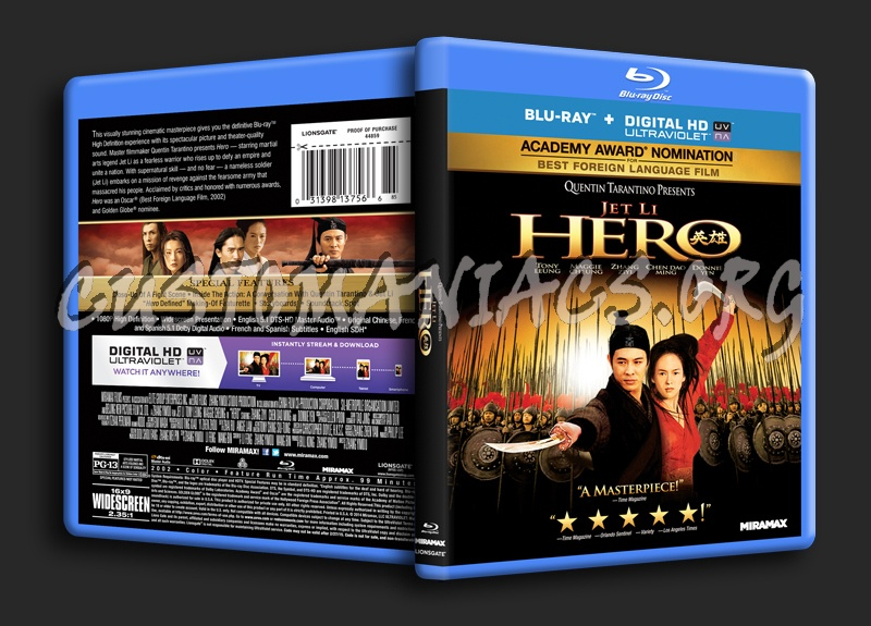 Hero blu-ray cover