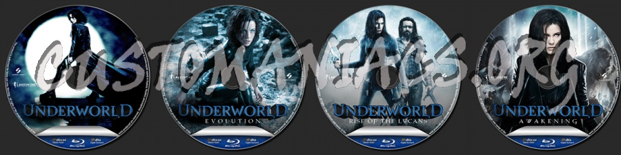 The Underworld Collection blu-ray label