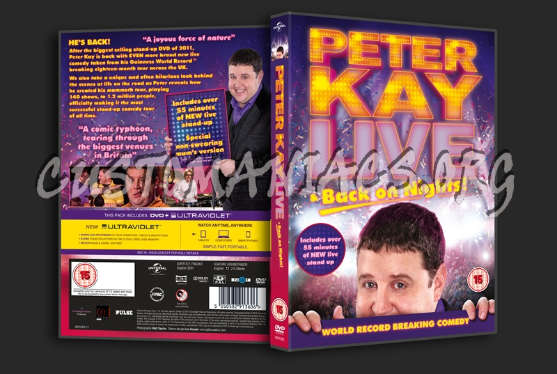 Peter Kay: Live & Back on Nights dvd cover