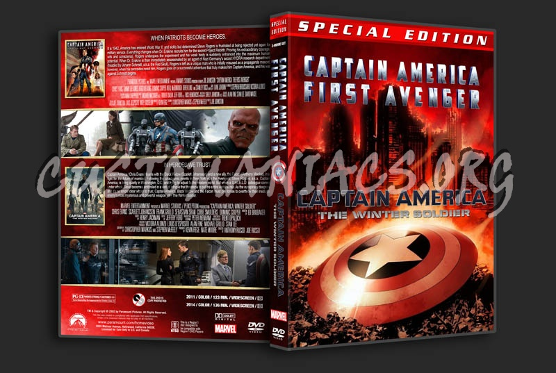 Captain America: First Avenger / Captain America: Winter Soldier Double dvd cover