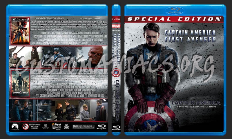 Captain America: First Avenger / Captain America: Winter Soldier Double blu-ray cover