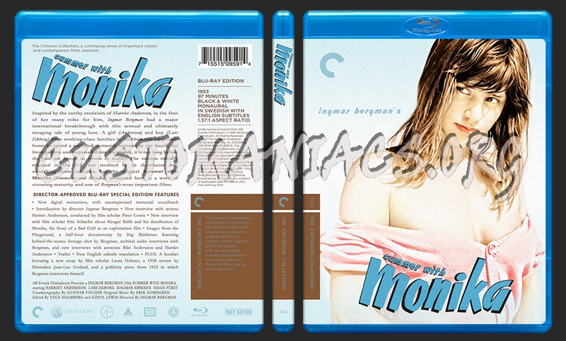 614 - Summer With Monika blu-ray cover