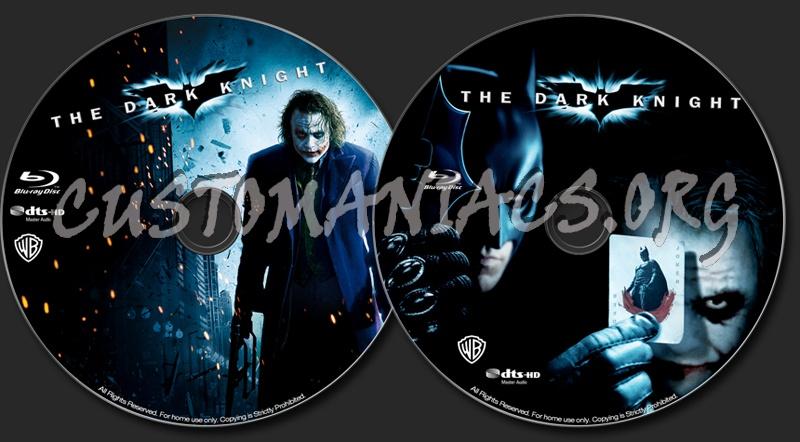 The Dark Knight blu-ray label