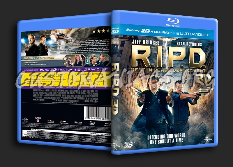R.I.P.D. (RIPD Rest In Peace Department) 3D blu-ray cover