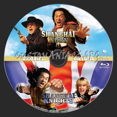 Shanghai Noon-Shanghai Knights Double Feature blu-ray label