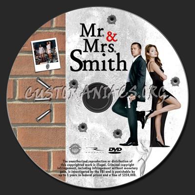Mr & Mrs Smith dvd label
