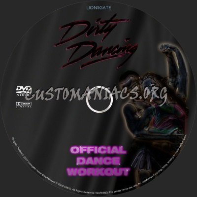 Dirty Dancing - Official Dance Workout dvd label