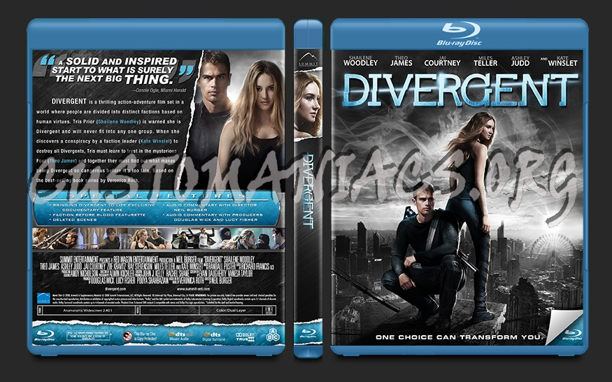 Divergent blu-ray cover
