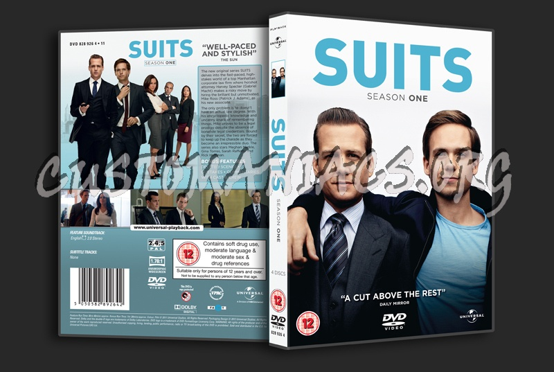Suits Season 1 dvd cover