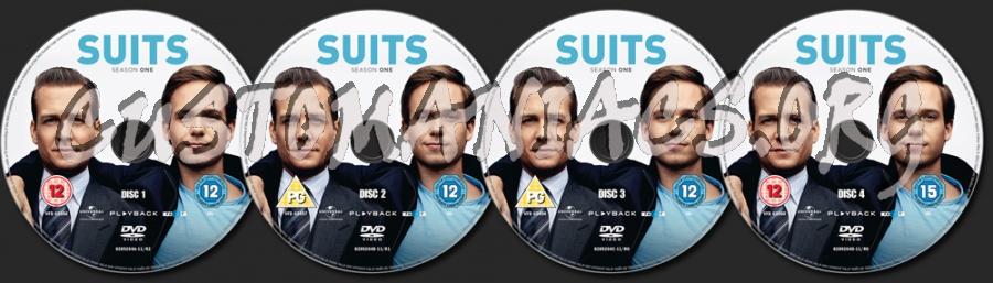 Suits Season 1 dvd label
