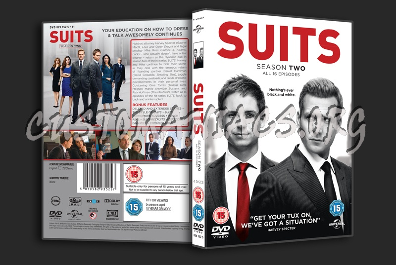 Suits Season 2 dvd cover