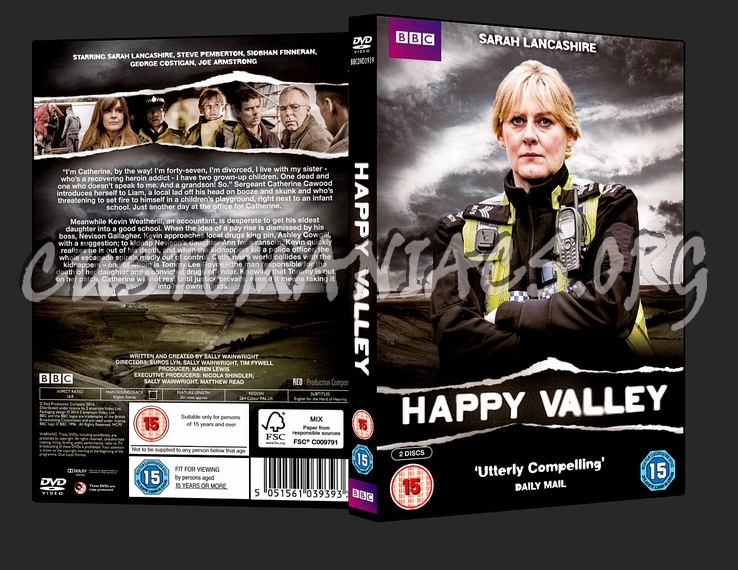 Happy Valley TV Series dvd cover