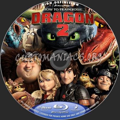 How To Train Your Dragon 2 (2D+3D) blu-ray label