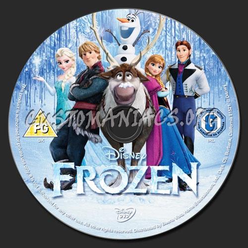Frozen (2013) dvd label