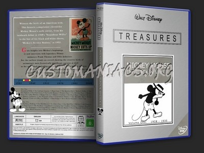 Disney Treasures - Mickey Mouse in Black and White Vol. I dvd cover