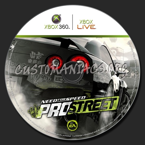 Need For Speed - Pro Street dvd label - DVD Covers & Labels by