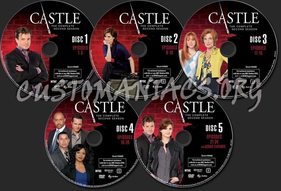 Castle Season 2 dvd label