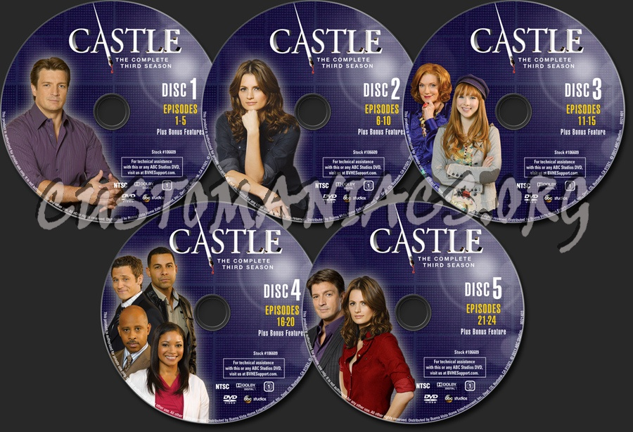 Castle Season 3 dvd label - DVD Covers & Labels by Customaniacs, id