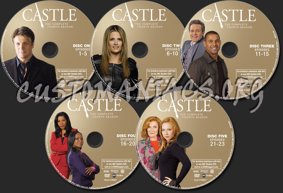 Castle Season 4 dvd label - DVD Covers & Labels by Customaniacs, id