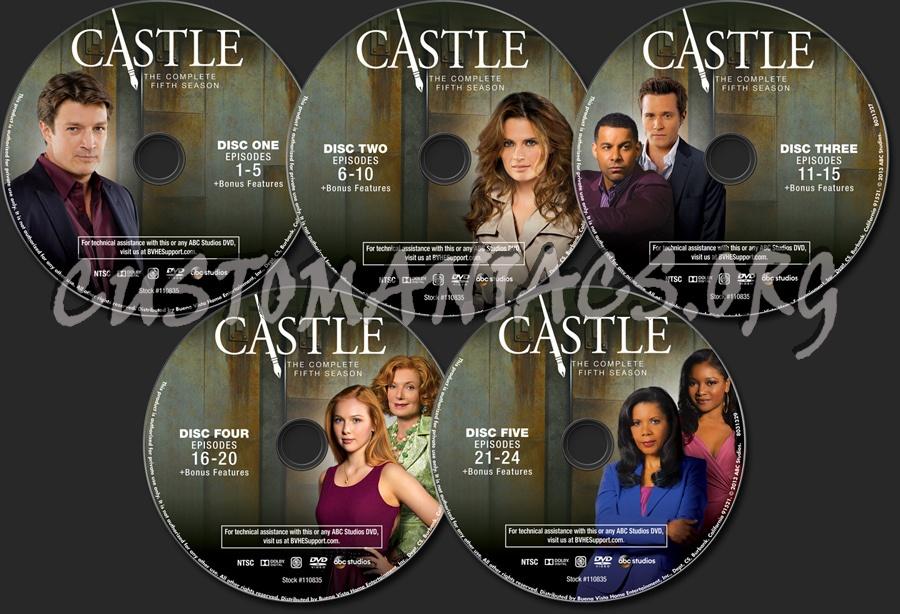 Castle Season 5 dvd label - DVD Covers & Labels by