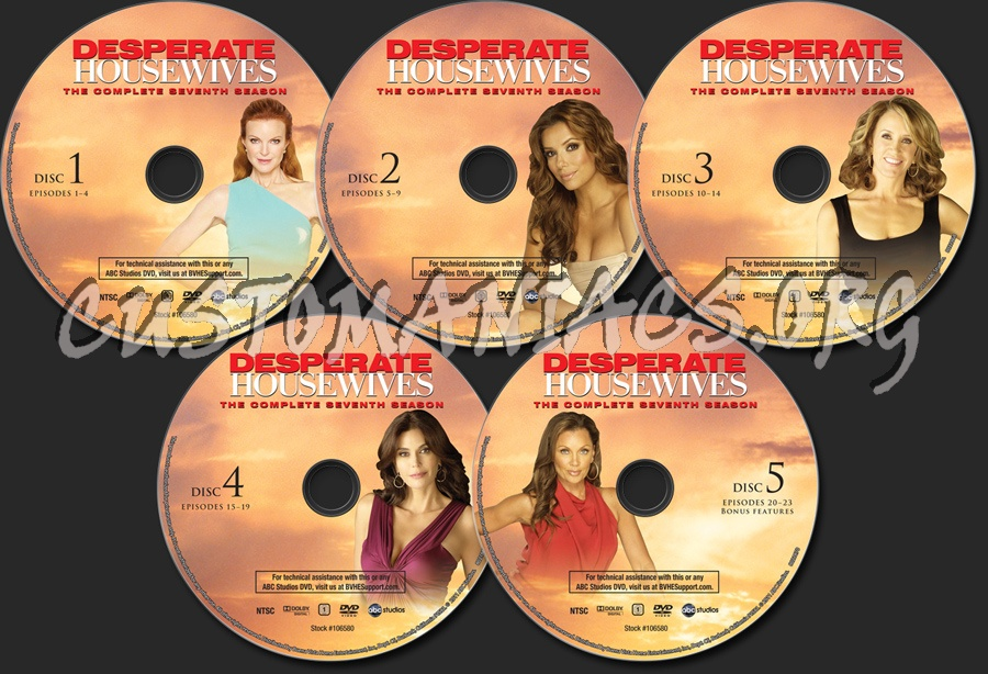 desperate housewives season 7 dvd label dvd covers. Black Bedroom Furniture Sets. Home Design Ideas