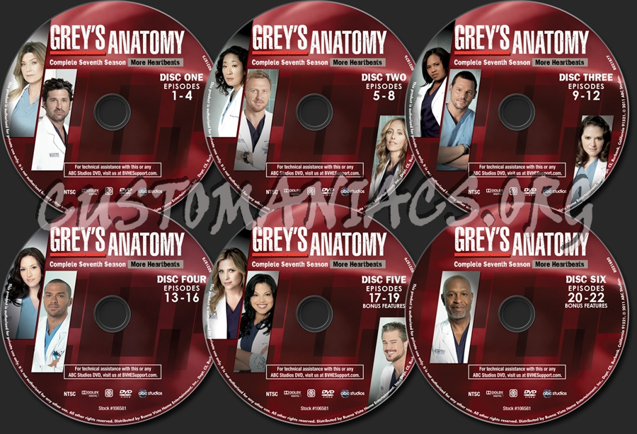 Greys Anatomy Season 7 Dvd Label Dvd Covers Labels By