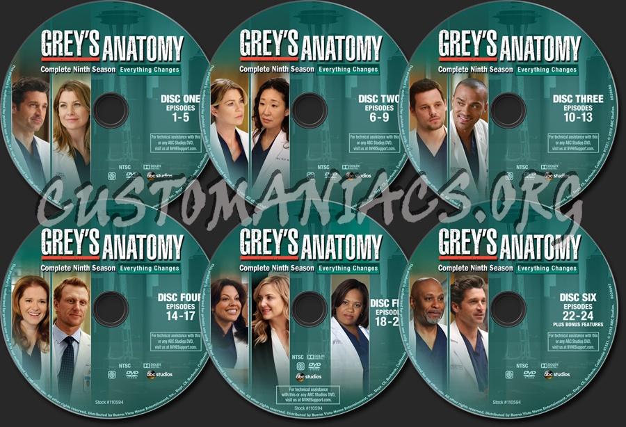 Greys Anatomy Season 9 Dvd Label Dvd Covers Labels By