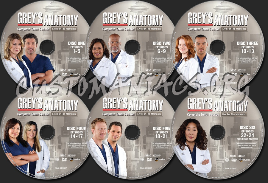 Grey\'s Anatomy Season 10 dvd label - DVD Covers & Labels by ...