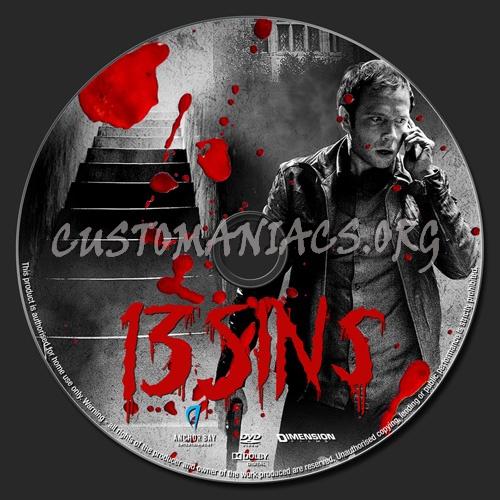 13 Sins dvd label